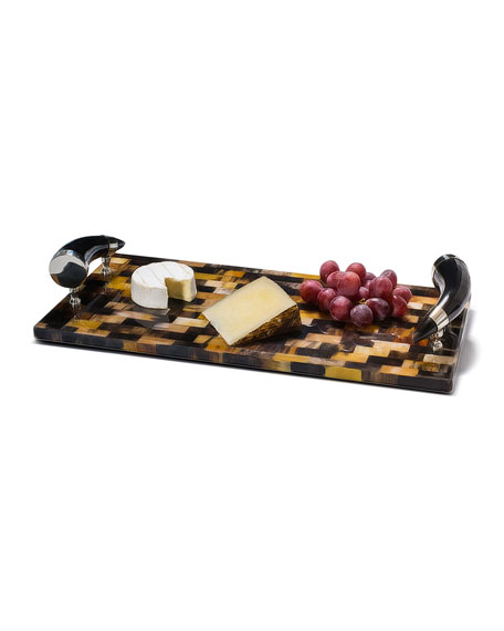 LADORADA Horn Veneer Large Serving Board