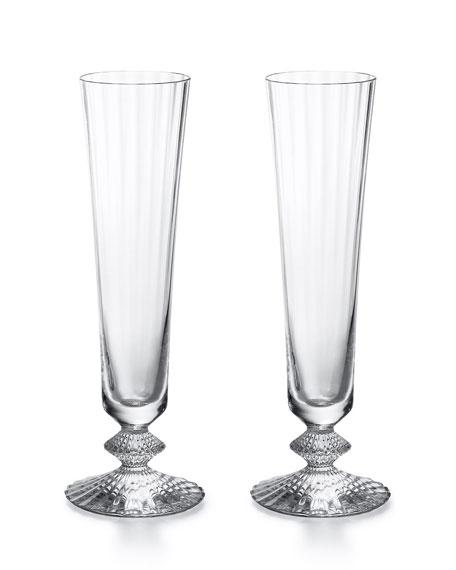 Baccarat Mille Nuits Champagne Flutes, Set of 2