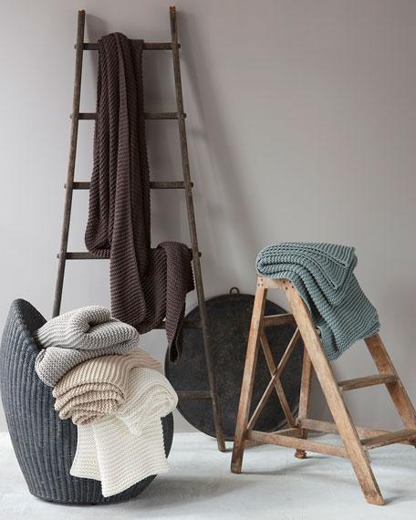 Matouk Orla Cotton-Wool Throw Blanket
