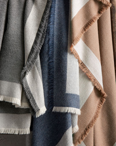 Suri Alpaca Eyelash-Fringe Throw Blanket
