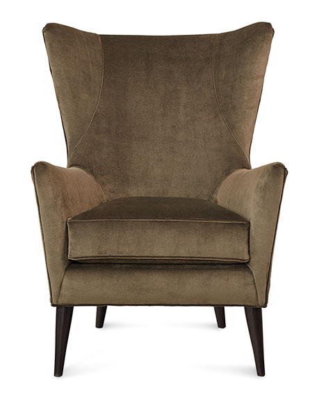Image 2 of 2: Sam Moore Bryce Velvet Wing Chair