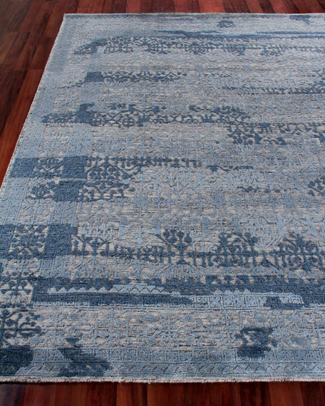 Exquisite Rugs Baker Hand-Knotted Wool Area Rug, 6' x 9'