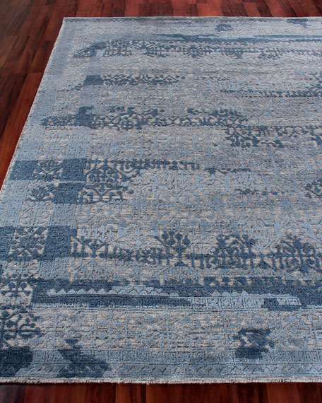 Exquisite Rugs Baker Hand-Knotted Wool Area Rug, 9' x 12'