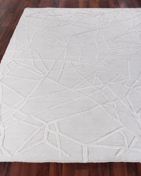 Exquisite Rugs Georgia Hand-Woven Wool Area Rug, 9' x 12'