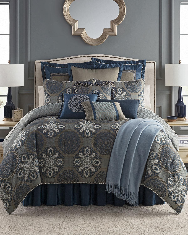 Waterford Jonet Reversible 4 Piece King Comforter Set