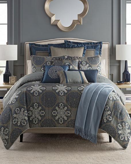 Waterford Jonet Reversible 4-Piece California King Comforter Set