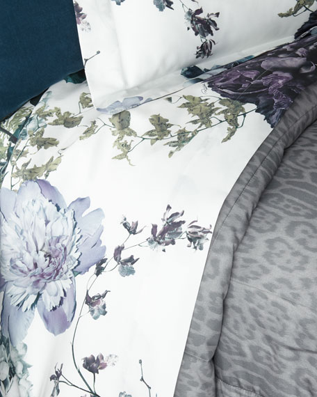 Roberto Cavalli Floris Queen Fitted Sheet