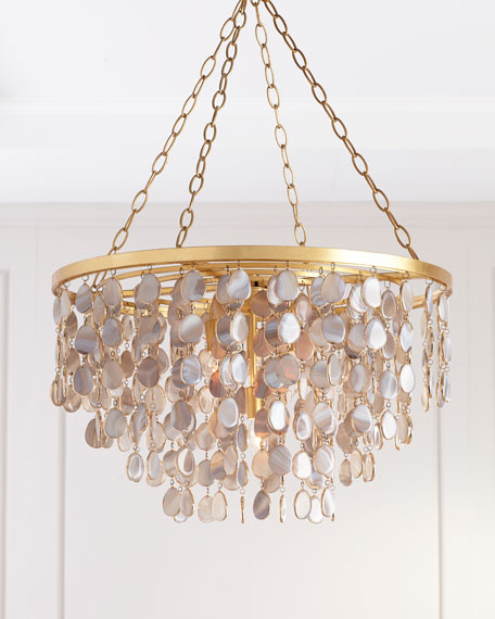 Image 3 of 3: Madison Agate Chandelier
