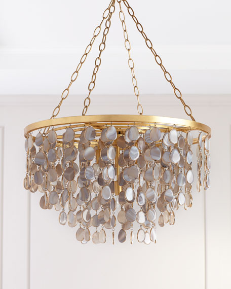 Image 1 of 3: Madison Agate Chandelier