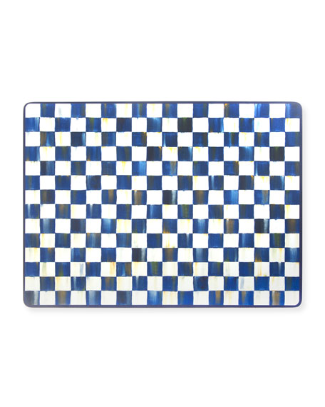 MacKenzie-Childs Royal Check Cork Back Placemats, Set of 4