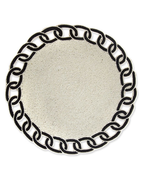MacKenzie-Childs Nautical Link Placemat, Black