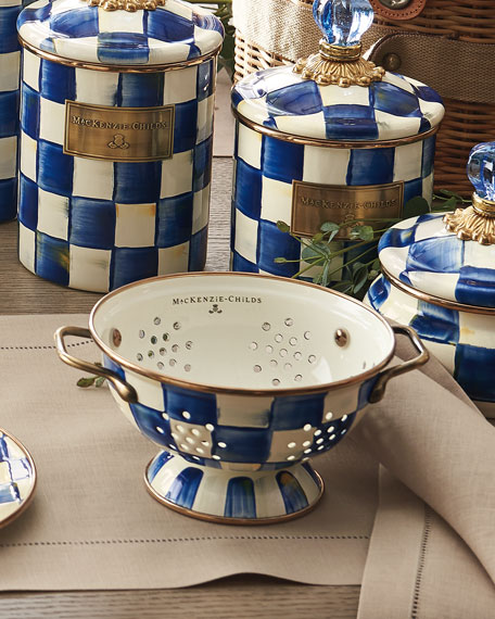 MacKenzie-Childs Royal Check Large Colander