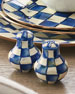MacKenzie-Childs Royal Check Salt and Pepper Shakers
