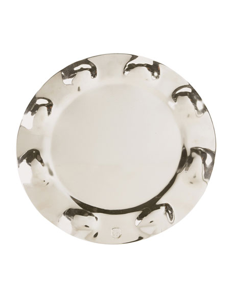 Jan Barboglio Nickeled Iron Raised Charger Plate