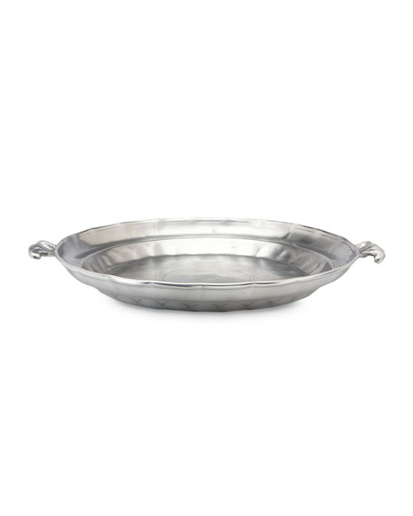 Match Large Round Low Bowl with Scroll Handles