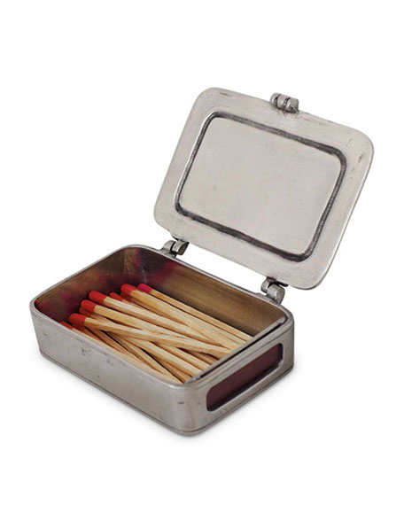Match Lidded Match Box with Striker and Matches