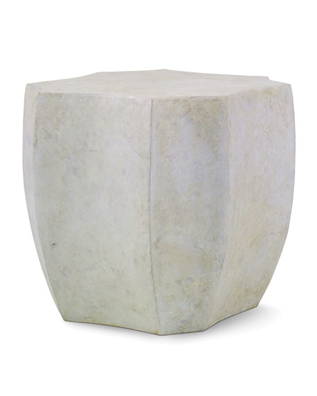 Image 1 of 2: Century Furniture Palma Cast Stone End Table