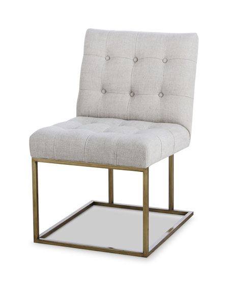 Century Furniture Kendall Metal Frame Tufted Side Chair