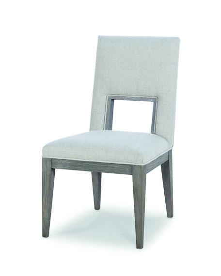 Century Furniture Kendall Linen Cutout Side Chair