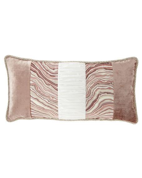 Sweet Dreams Geod Pieced Oblong Pillow