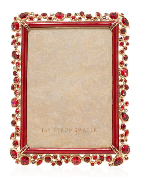 """Jay Strongwater Bejeweled Frame, 5"""" x 7"""""""
