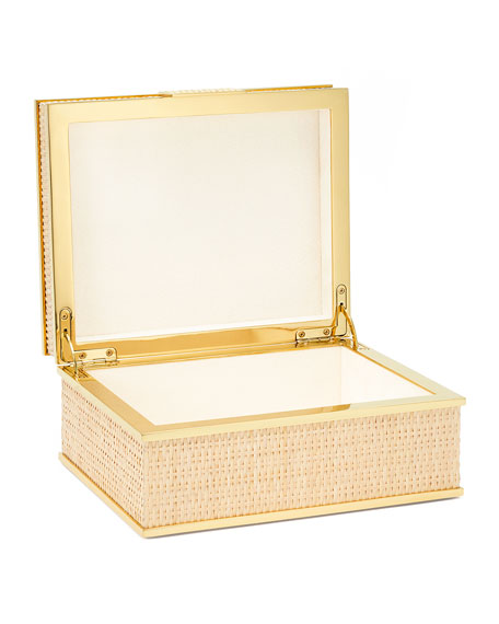 Image 2 of 2: AERIN Colette Cane Jewelry Box