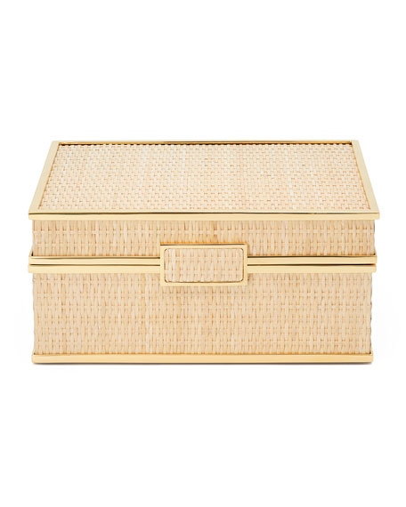 Image 1 of 2: AERIN Colette Cane Jewelry Box