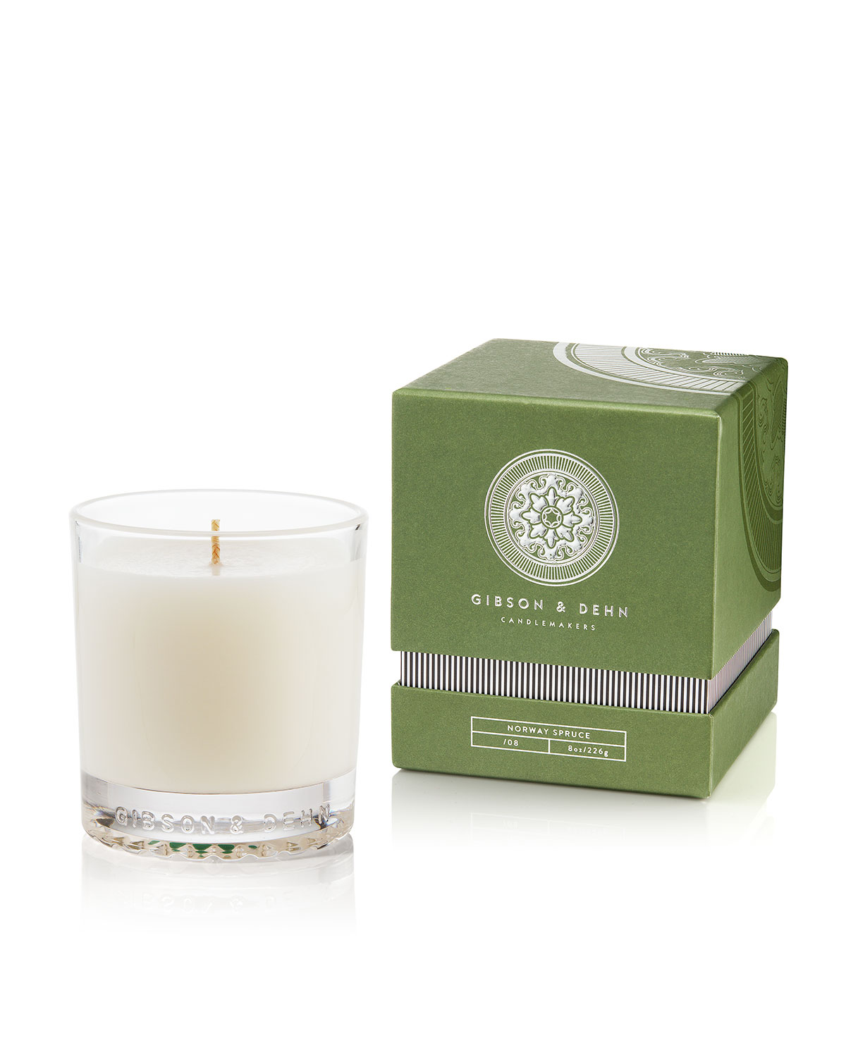 Gibson & Dehn Norway Spruce Single Wick Candle, 8 oz. / 227g