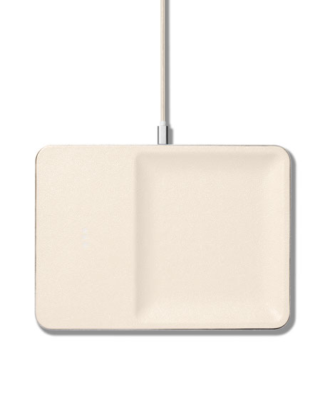 Courant CATCH:3 Single Device Wireless Charging Station w/ Accessory Organizer, Bone