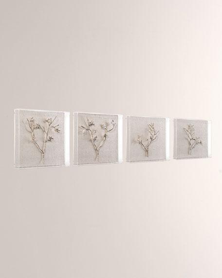 John-Richard Collection Silver Branches I-IV Wall Art