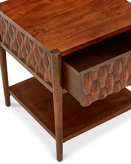 Global Views Kerf Side Table
