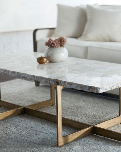 Jasmine Fossilized Clam Coffee Table