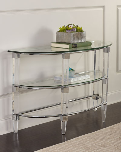 Shane Demi-Chrome Console Table