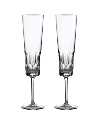 Jeff Leathan Icon Champagne Flutes  Set of 2 - Clear