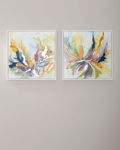 Spring Dance Giclee Canvas Art, Set of 2
