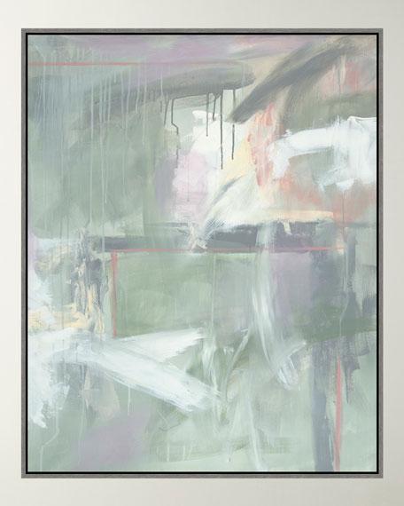 """Wispy Greens"" Giclee Canvas Art"