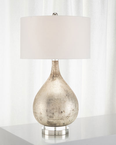 Weathered Silvertone Table Lamp