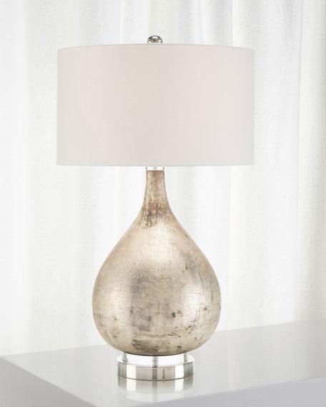 John-Richard Collection Weathered Silvertone Table Lamp
