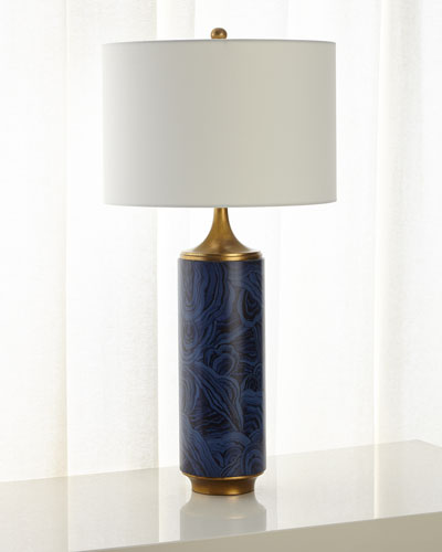 Faux Azurite Table Lamp