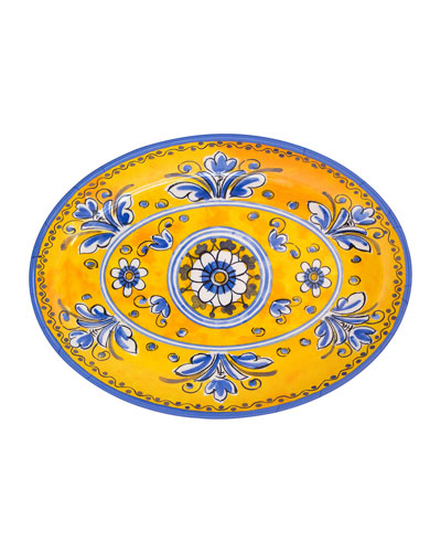 Jardin Melamine Oval Platter
