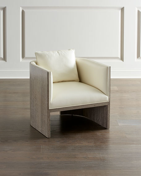 John-Richard Collection Belmont Leather Tub Chair