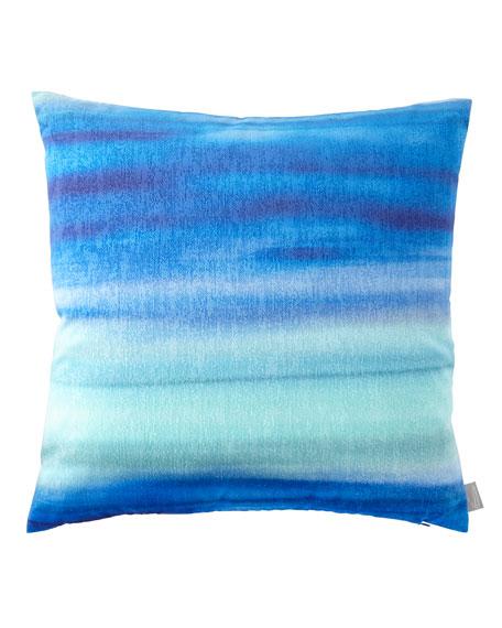 Aviva Stanoff Blue Azure Gravity Mohair Pillow
