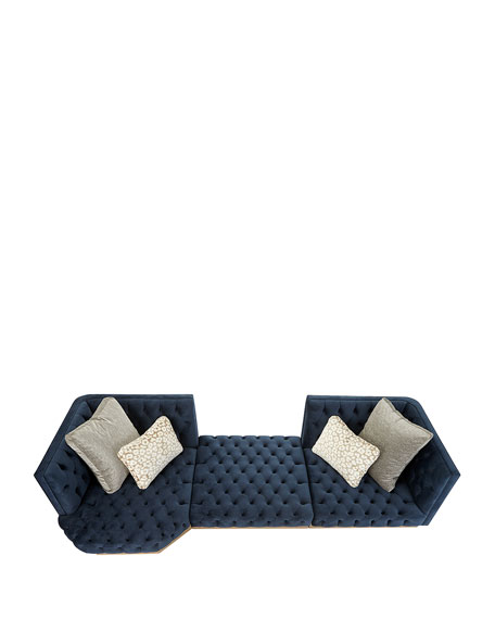 Image 2 of 2: Haute House Tufted Geometric Sectional