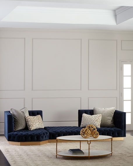 Image 1 of 2: Haute House Tufted Geometric Sectional