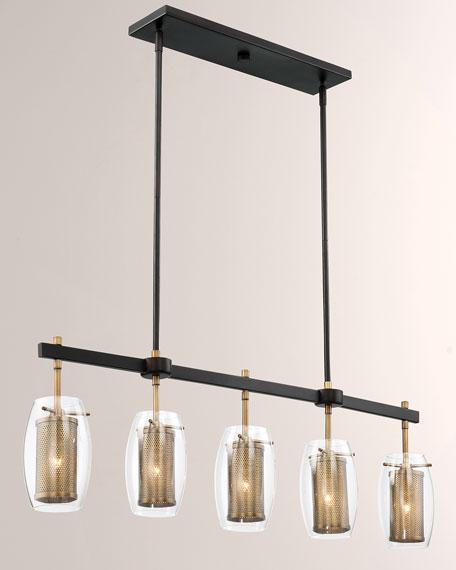 Dunbar Five-Light Linear Chandelier