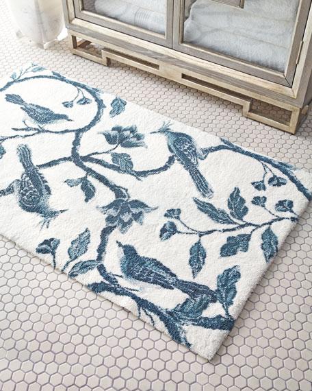 Abyss & Habidecor Blue Bird Bath Rug