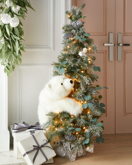 Ditz Designs By The Hen House Crystal White Tree with Polar Bears