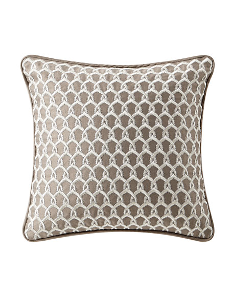 Waterford Baylen Embroidered Square Pillow, 14""