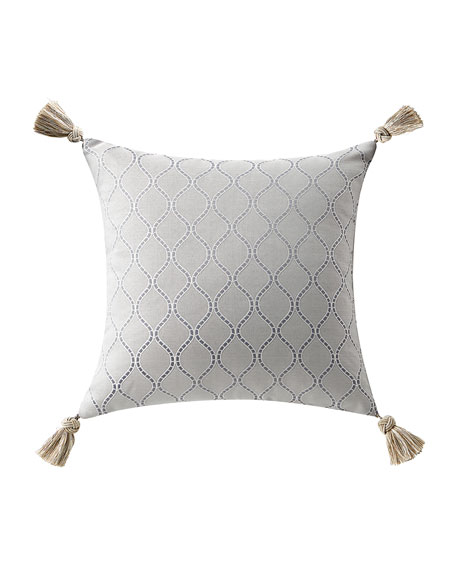 Waterford Baylen Square Pillow w/ Tassel Trim