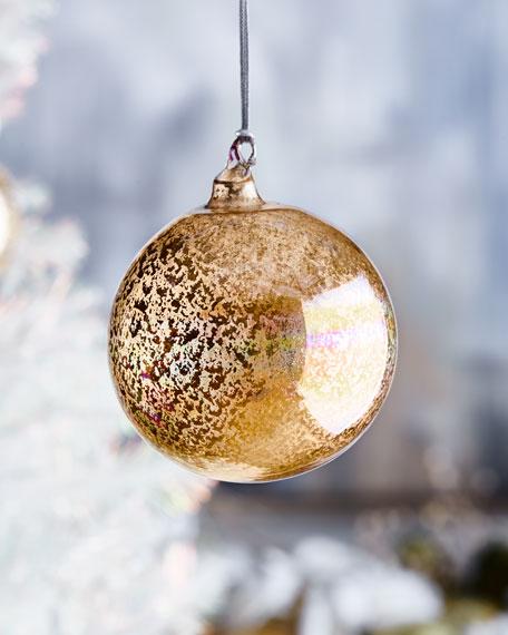 Jim Marvin 120mm Glitter Murano Glass Ball Ornament